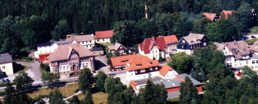 Blick auf Schierke mit Rathaus