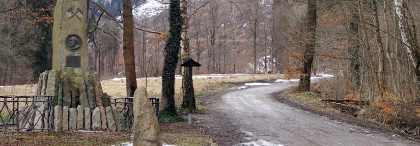 Eingang zum Thumkuhlental bei Wernigerode